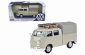 VW Volkswagen Type 2 T1 Double cab pick up Grijs - Grey  1/24