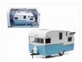 Shasta 15' Airflyte Caravan Camper Wit Blauw -  White Blue 1/24