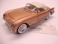 Chevrolet Corvette 1955 Goud Gold Cabrio + soft top 1/24