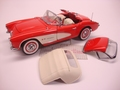 Chevrolet Corvette 1957 Rood Red Cabrio Hard + soft top 1/24