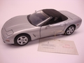 Chevrolet Corvette 1998 Zilver Silver Cabrio + soft top 1/24