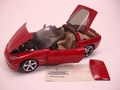 Chevrolet Corvette 2005 Rood Red  1/24