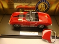 Chevrolet Corvette 1967 Rood Red Cabrio + hard top 1/24