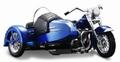 Harley Davidson sidecar FL Hydra Glide 1952 Blauw Blue 1/18