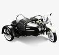 Harley Davidson Sidecar FLH Duo Glide 1958 Zwart Wit 1/18