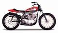Harley Davidson 1972 XR750 Racing Bike Oranje Orange 1/18