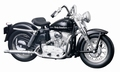 Harley Davidson 1952 K Model Zwart Black 1/18