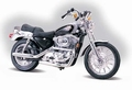 Harley Davidson XLH Sportster 1200 Zilver  Silver 1/18