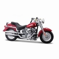 Harley Davidson 2004 FLSTFI Fat Boy Rood Red 1/18