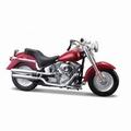 Harley Davidson 2004 FLSTFI Fat Boy Rood Red 1/18