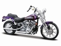 Harley Davidson 2001 FXSTS Springer Softail Purper Purple 1/18