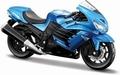 Kawasaki Ninja ZX-14R Blauw Blue 1/18