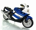 BMW K1200 S Blauw  wit  Blue white 1/12