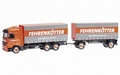 Mercedes+ trailer Fehrenkotter 1/87