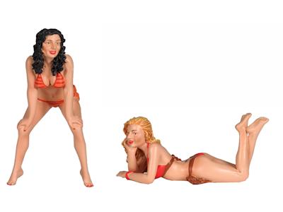 Figuur 2 Bikini Girls Figure  set of 2 figures figuren 1/18