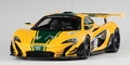 Mc Laren P1 GTR Geel/groen Yellow/green stripes #51 2015 1/18