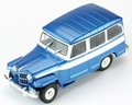 Jeep Willys station wagon 1960 Blauw - wit / Blue - White 1/43