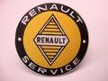 Renault Service Ø 10 cm Emaille