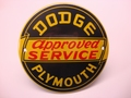 Dodge - Plymouth approved Service Ø 10 cm Emaille