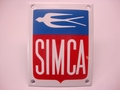 Simca RH 10 X 13 cm Emaille Rood Wit Blauw
