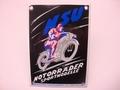 NSU Motorrader Sportmodelle  10 x 14 cm Emaille