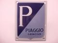 Piaggio Genova 10 x 13 cm Emaille