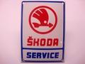 Skoda Service 10 x 14 cm Emaille