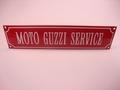 Moto Guzzi  Service 8 x 33 cm Emaille