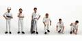 Wit White Pit crew figuren set  figures 1/18