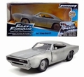 Dom's Dodge Charger R/T Blood metaal zilver  Bare metal 1/24
