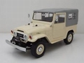 Toyota Land cruiser FJ40 Beige met grijze soft top  1/18