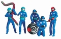 Carrera Mechaniekers - Pit crew Blauw - Blue 1/32