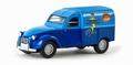 Citroen 2CV - 2 PK Velosolex Blauw -  Blue 1/87