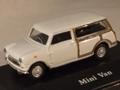 Mini cooper Mini Van Break Wit White  Woody 1/72
