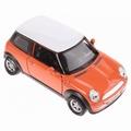 Mini Cooper Oranje met wit dak  - Orange + white roof