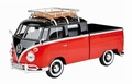 VW Bus Volkswagen Type 2 ( T1 ) Pick up zwart rood Black red 1/24
