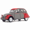 Citroen 2 cv 2 pk Dolly Grijs rood  - Grey red 1/18