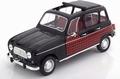 Renault 4 Parisienne 1964 Zwart rood - black red 1/18