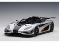 Koenigsegg One Moon grey / carbon black 2014 orange accents 1/18