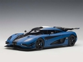 Koenigsegg one 1 Blauw  Matt Imperial Blue 1/18