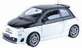 Abarth 500 zwart/wit  black/white 2005  1/24