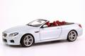 BMW m6 Cabrio Conbertible Silverstone II zilver 1/18