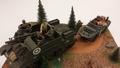 Diorama met tank en amfibie voertuig Amerikaans leger 1/35
