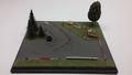 Diorama rally baan circuit met bomen en straat lamp 1/43