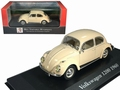 VW Kever Beetle 1200 1960 Cream wit white  1/43