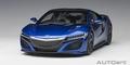 Honda NSX ( NC1 ) 2016 Blauw Metallic Blue 1/18
