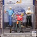 Ford Service  set van 3 figuren - figures 1965 1/18