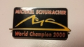 Pin Michael Schumacher World Champion 2000