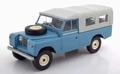 Land Rover 109 Pick up Series II blauw/grijs met huif 1/18