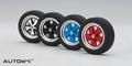Set van 4 Wielen  Wheel rubber eraser 1/18